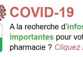 Covid-19: infos complètes pour votrepharmacie